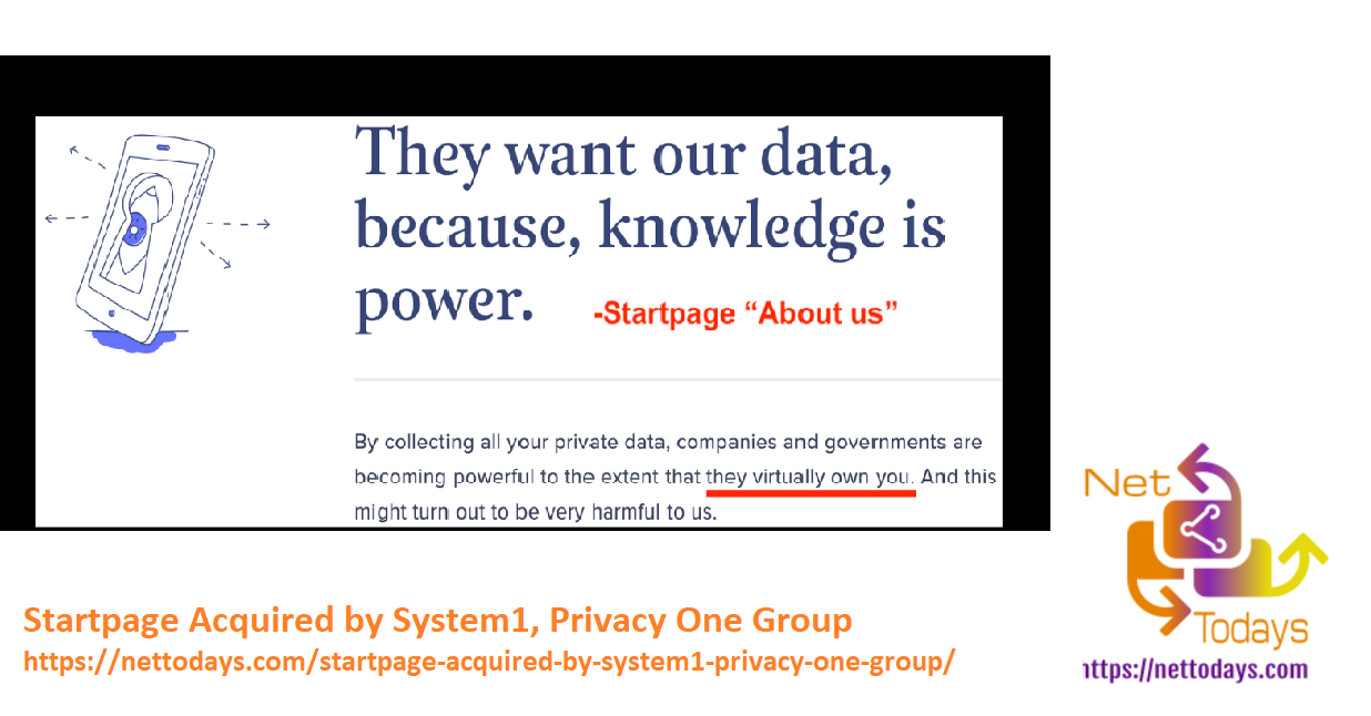 Startpage Acquired by System1, Privacy One Group