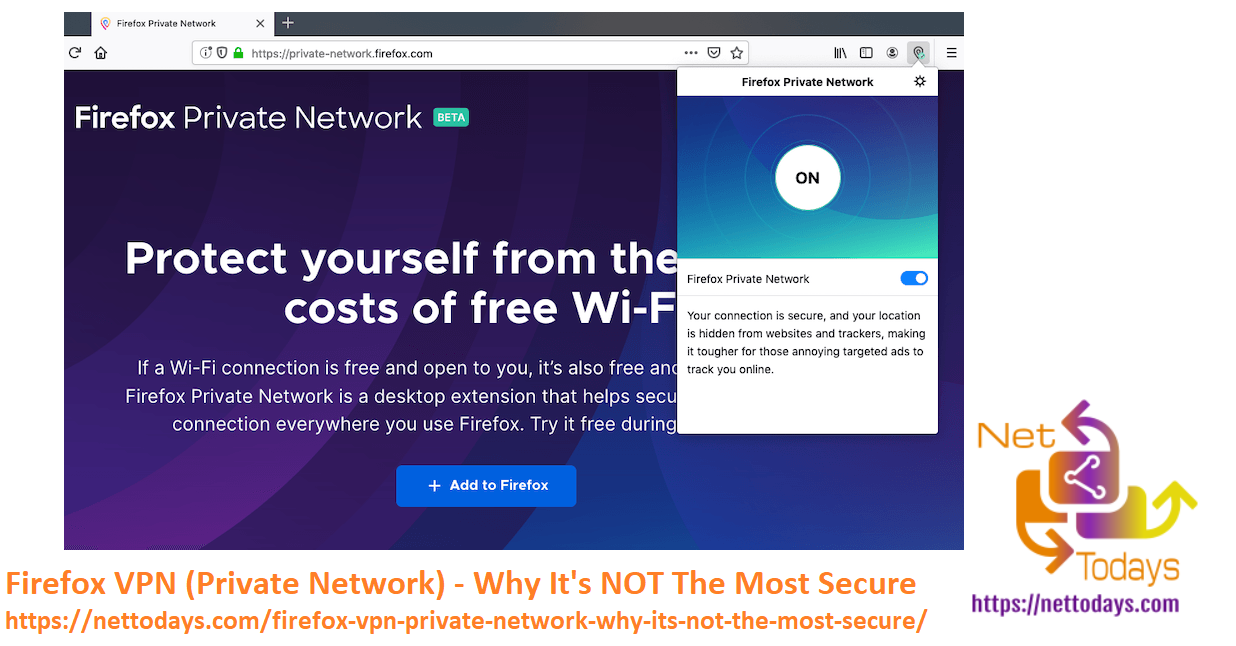 Firefox VPN (Private Network) - Why It's NOT The Most Secure
