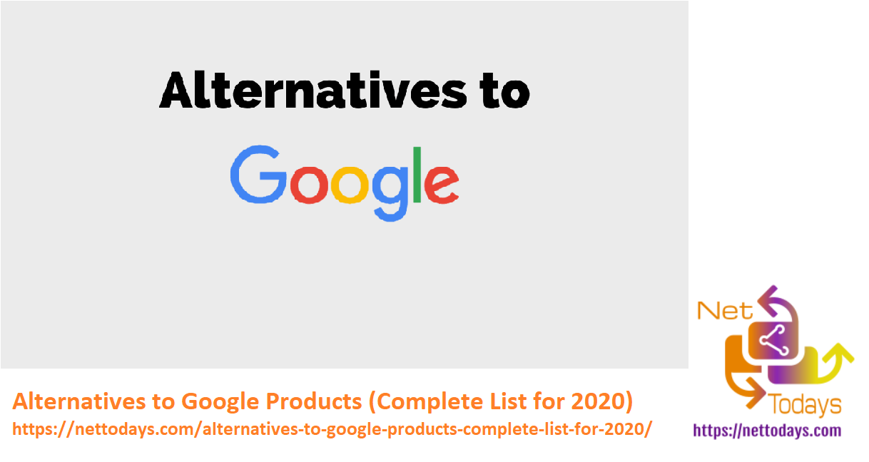 Alternatives to Google Products (Complete List for 2020)