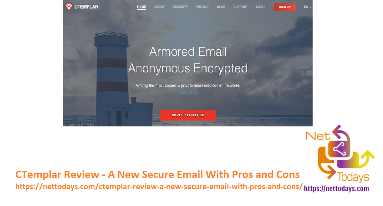 CTemplar Review - A New Secure Email With Pros and Cons