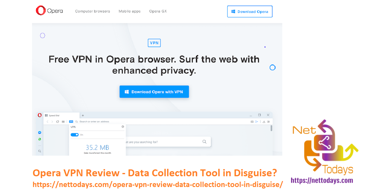 Opera VPN Review - Data Collection Tool in Disguise