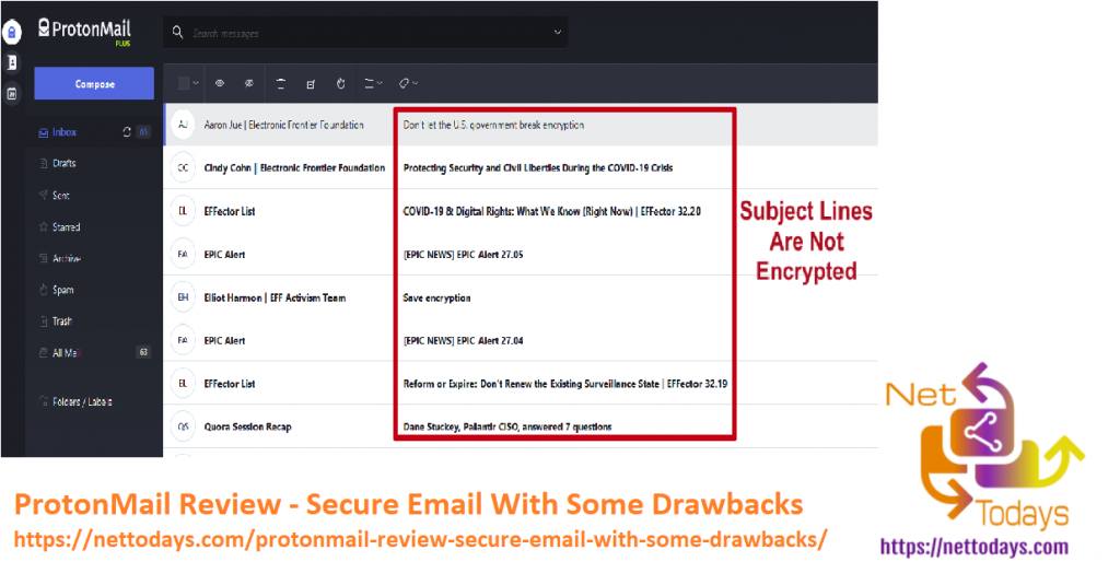 ProtonMail Review - Secure Email With Some Drawbacks